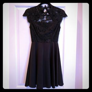 Francescas Collections Black Lace Dress
